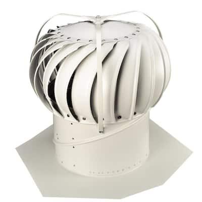 12 in. White Aluminum Externally Braced Whirlybird Wind Turbine