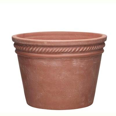 Michelle 11.8 in. x 8.94 in. Terracotta Clay Planter