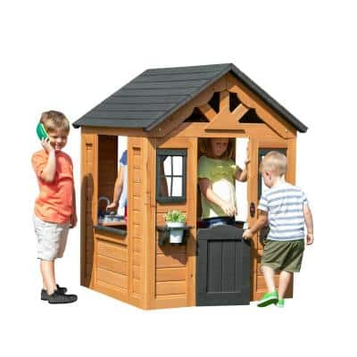 Sweetwater Outdoor Wooden Playhouse with Kitchen