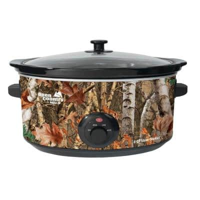 Open Country 8 Qt. Camoflauge Slow Cooker with Temperature Settings