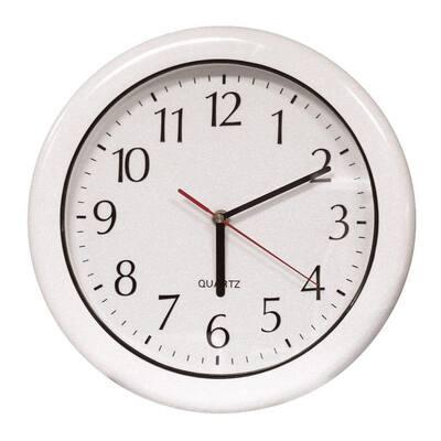12 in. White Clock