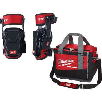 High Performance Stabilizing Shell Knee Pad with PACKOUT Tool Bag