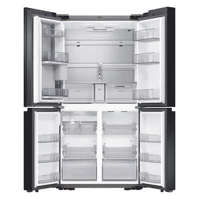 23 cu. ft. BESPOKE 4-Door Flex French Door Smart Refrigerator in Matte Black with Customizable Panels, Counter Depth