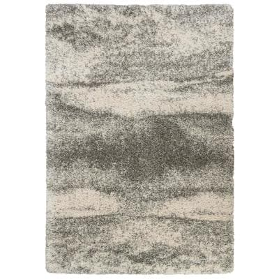 Stormy Gray 5 ft. x 8 ft. Abstract Area Rug