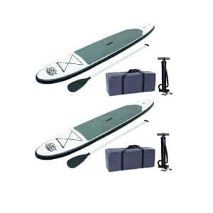 122 in. Inflatable Hydro-Force Wave Edge Stand Up Paddle Board (2-Pack)