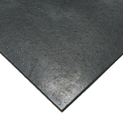 Nitrile 1/8 in. x 36 in. x 288 in. Commercial Grade 60A Rubber Sheet Black Buna Sheets