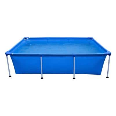 10 ft. x 6.5 ft. Rectangle 25 in. Metal Frame Pool