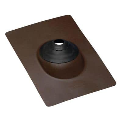 No-Calk 10-3/4 in. x 14-1/4 in. Galvanized Steel Angle Vent Pipe Roof Flashing with 3 in. Diameter