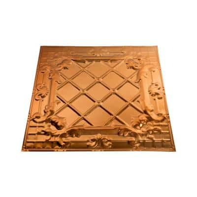 Toledo 2 ft. x 2 ft. Nail Up Metal Ceiling Tile in Copper (Case of 5)