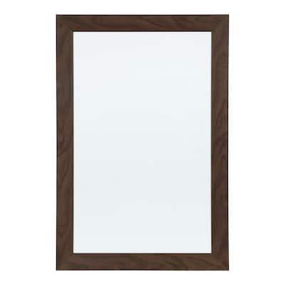 Beatrice Walnut Brown Dry Erase Memo Board