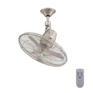 Bentley III 22 in. Indoor/Outdoor Brushed Nickel Oscillating Ceiling Fan with Remote Control
