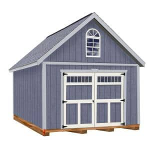 Geneva 12 ft. x 16 ft. Wood Garage Kit with Floor