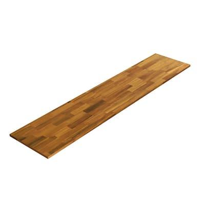 3/4 in. x 16 in. x 6 ft. Acacia Appearance Board, Golden Teak