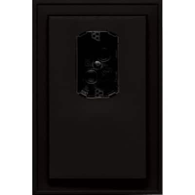 8.125 in. x 12 in. #002 Black Jumbo Electrical Mounting Block Offset