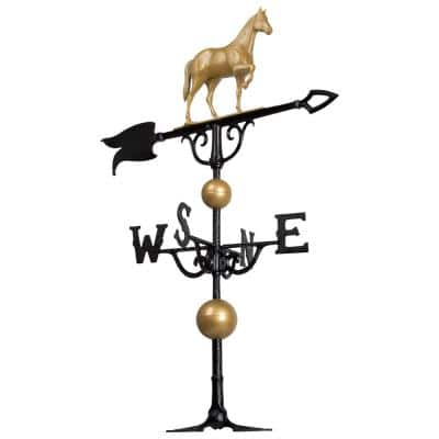 46 in. Horse Weathervane with Globes