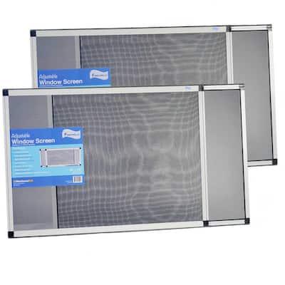 28 in. x 20 in. Fiberglass Expandable Aluminum Frame Screen (2-Pack)
