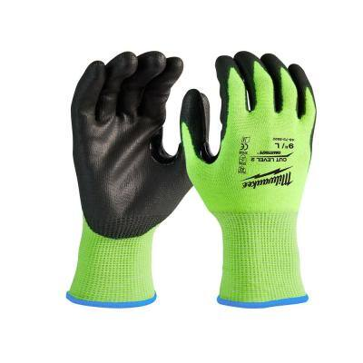 XX-Large High Visibility Level 2 Cut Resistant Polyurethane Dipped Work Gloves (12-Pack)