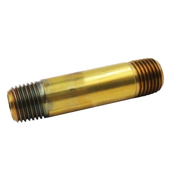 """Red Brass 3//4/"""" x 4-1//2/"""" Brass NPT Pipe Nipples"""