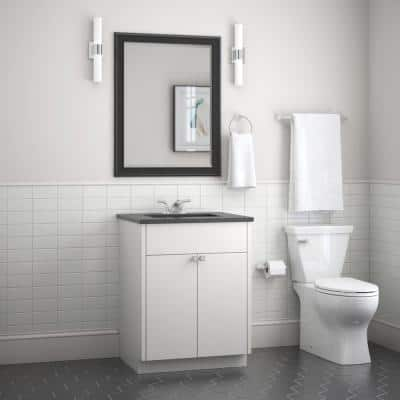 Foundations 3-Piece Bath Hardware Set in Chrome with Towel Ring Toilet Paper Holder and 18 in. Towel Bar