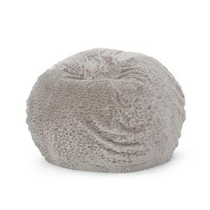 Upson Gray Pebble Pattern Short Faux Fur 5-Foot Bean Bag