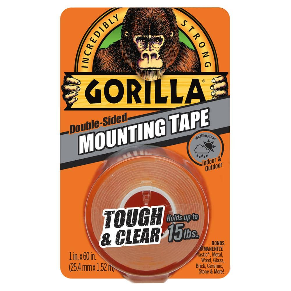 Gorilla 1 in. x 1.67 yds. Tough  and  Clear Mounting Tape