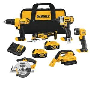 20-Volt MAX Cordless Combo Kit (6-Tool) with (2) 20-Volt 4.0Ah Batteries & Charger