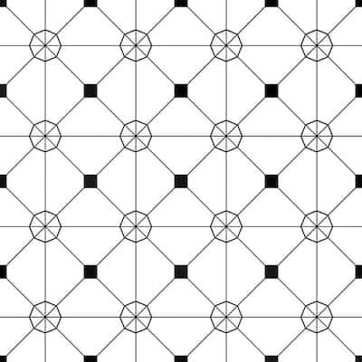 Zodiac White Peel and Stick Wallpaper (Covers 28 sq. ft.)