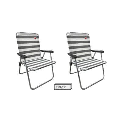 Black/White New Classic Folding Camp/Lawn Chair (2-Pack)
