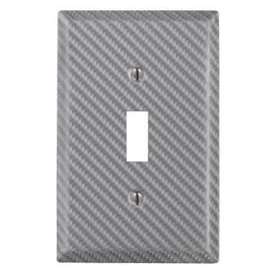 Branston 1 Gang Toggle Steel Wall Plate - Silver