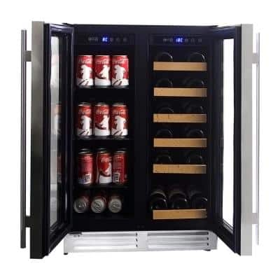 Dual Zone 24 in. 56 (12 oz.) Cans and 18 (25 oz.) Wine Bottles Cooler