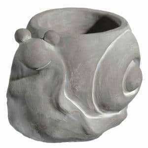 Small Natural Cement Snail Planter