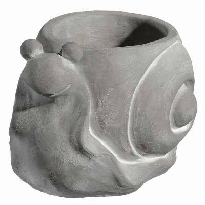 Large Natural Cement Snail Planter