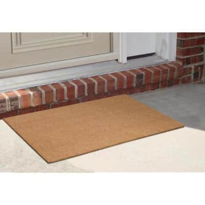A1HC First Impression PVC Tufted Plain 24 in. x 39 in. Coir Door Mat with More Clean Area