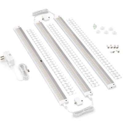 20 in. LED 6000K White Under Cabinet Lighting, Dimmable Hand Wave Activated (3-Pack)