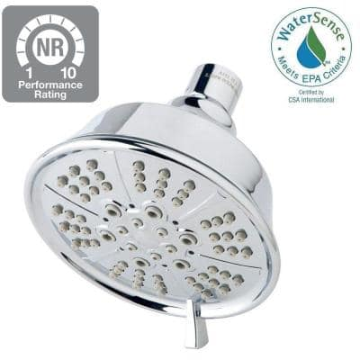 5-Spray 4.5 in. Single Wall Mount Fixed Shower Head in Chrome