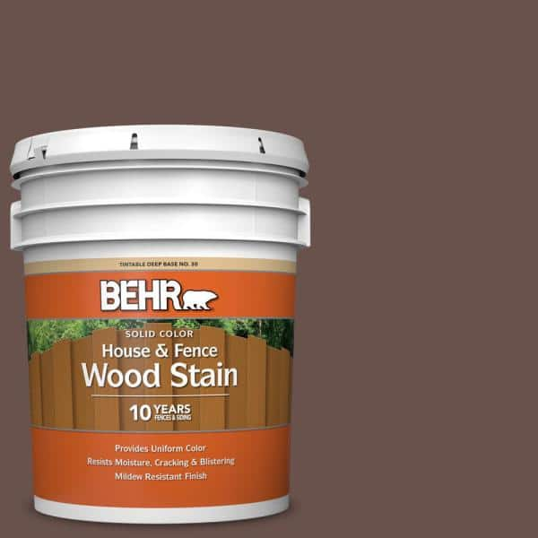 Behr 5 Gal Sc 111 Wood Chip Solid, Outdoor Wood Stain Colors