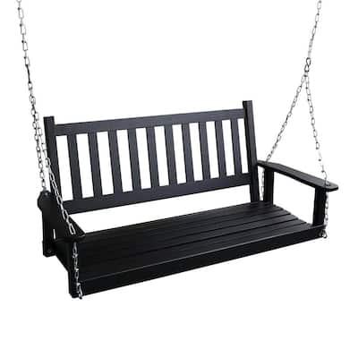 2-Person Outdoor Wooden Patio Porch Swing