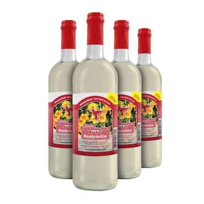 750 ml Sweet-Nectar Premium Ready-to-Use Hummingbird Nectar/Food (4-Pack)