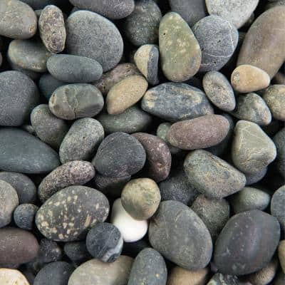 25 cu. ft. 3/8 in. Mixed Mexican Beach Pebble Bulk Landscape Rock for Gardening, Landscaping, Driveways and Walkways
