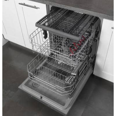 24 in. Stainless Steel Top Control Smart Built-In Tall Tub Dishwasher 120-Volt with 3rd Rack and 46 dBA