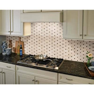 Valencia Blend Elongated Octagon 12 in. x 12 in. x 10 mm Polished Marble Mosaic Tile (1 sq. ft.)