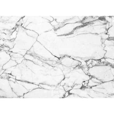 Marble 18 in. x 13 in. Grays Polypropylene Placemats (Set of 6)