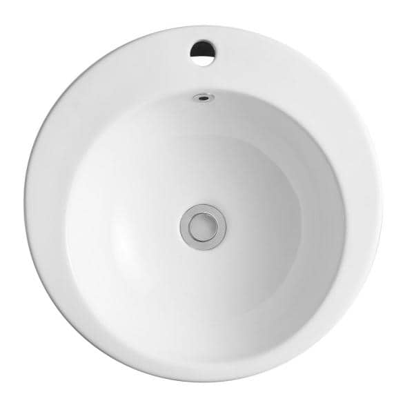 Vanityfus 19 5 In X 19 5 In X 32 28 In Art In White Ceramic Round Pedestal Combo Vessel Sink Vf Mh Bs091 551 The Home Depot