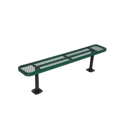 Surface Mount 6 ft. Green Diamond Commercial Park Bench without Back