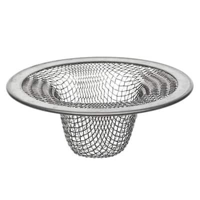 2-1/2 in. Mesh Bathroom Sink Strainer in Stainless Steel