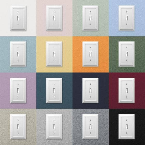Amerelle Deerfield 2 Gang Toggle Composite Wall Plate White 2040ttw The Home Depot