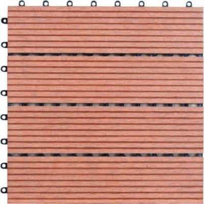 M-Slat 1 ft. x 1 ft. Composite Deck Tiles in Bamboo (11 per Case)