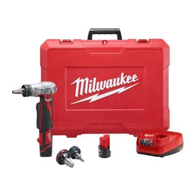 M12 12-Volt Lithium-Ion Cordless PEX Expansion Tool Kit with (2) 1.5 Ah Batteries, (3) Expansion Heads and Hard Case