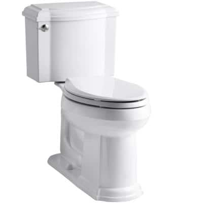 Devonshire 2-piece 1.28 GPF Single Flush Elongated Toilet with AquaPiston Flush Technology in White, Seat Not Included