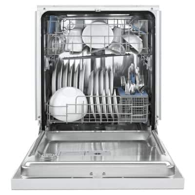24 in. White Front Control Built-In Tall Tub Dishwasher with Stainless Steel Tub with 1-Hour Wash Cycle, 50 dBA